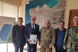 اتفاقية تعاون مع مديرية الشؤون الجغرافية-وزارة الدفاع الوطني